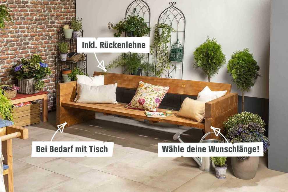 Gut gemocht Gartenbank Jule selber bauen - Gartenmöbel - OBI Selbstbaumöbel DU63