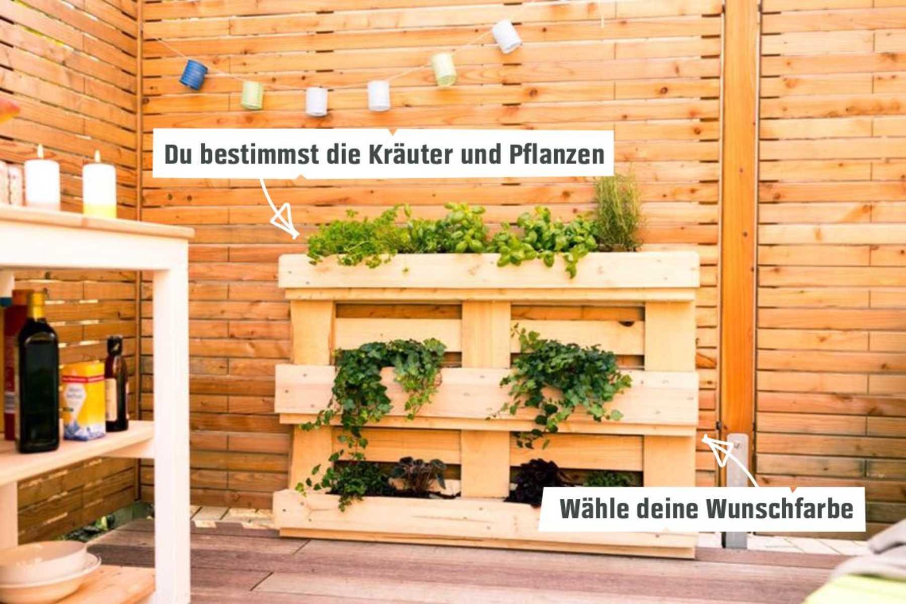 Pflanzregal Grunlich Selber Bauen Palettenmobel Obi Selbstbaumobel