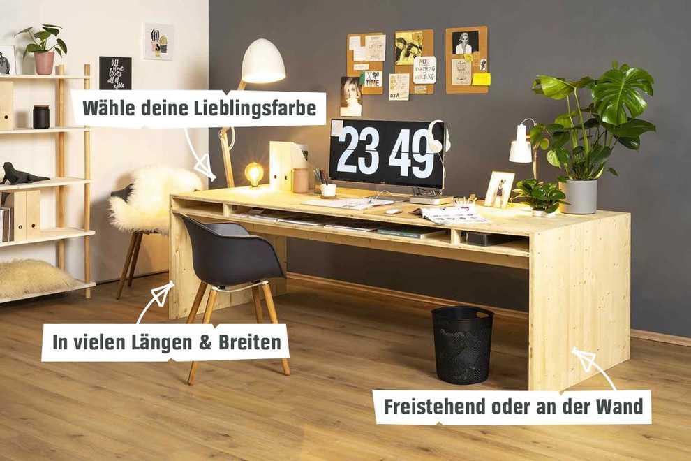 Beliebt Schreibtisch Otto selber bauen - Tische - OBI Selbstbaumöbel II49